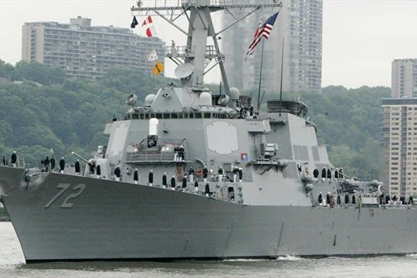 ناوشکن آمریکایی Mahan گستاخی آمریکا در خلیج فارس بدون جواب ایران نماند!