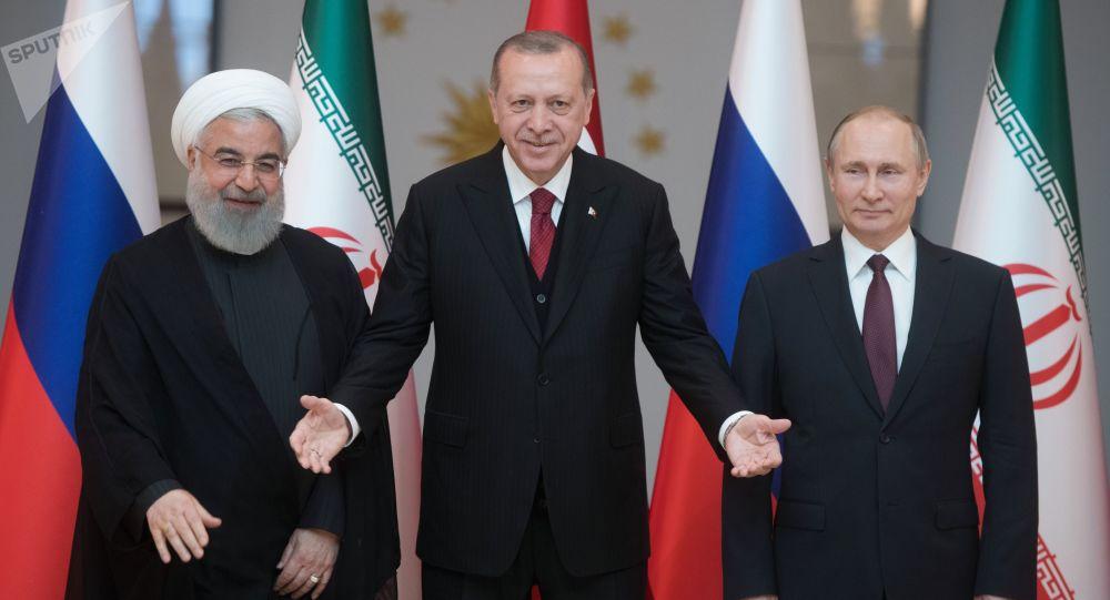 آغاز دیدار سران روسیه، ترکیه و ایران