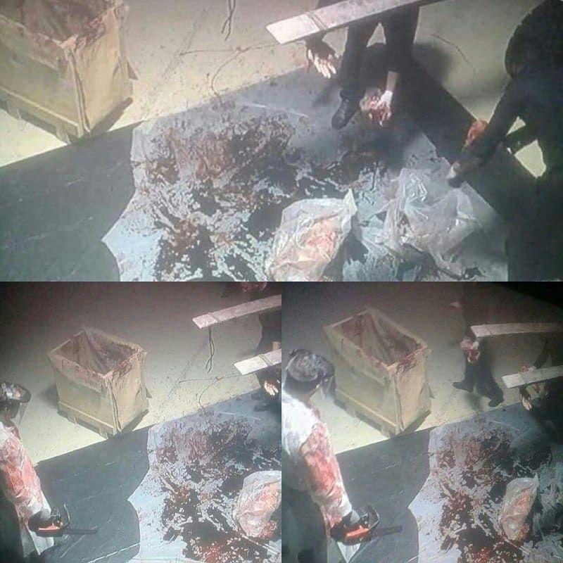 اولین تصاویر از تکه تکه کردن بدن خاشقچی/ استفاده از اره برقی برای بریدن بدن