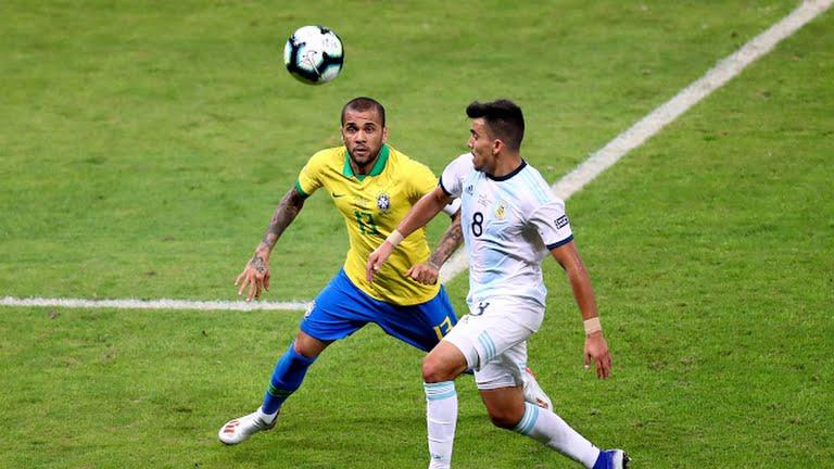 برزیل ۱ - آرژانتین ۰ / پایان نیمه نخست