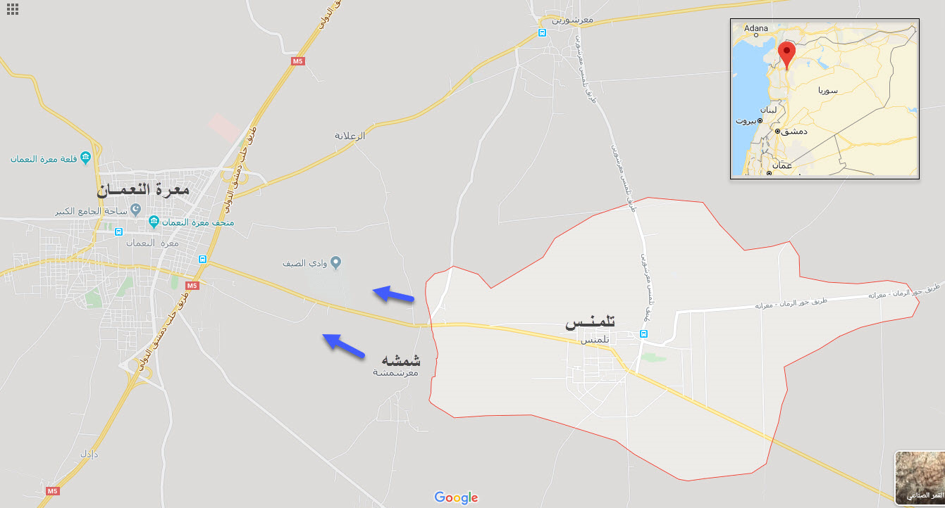 ورود ارتش سوریه به دروازه شرقی شهر «معره النعمان» ادلب